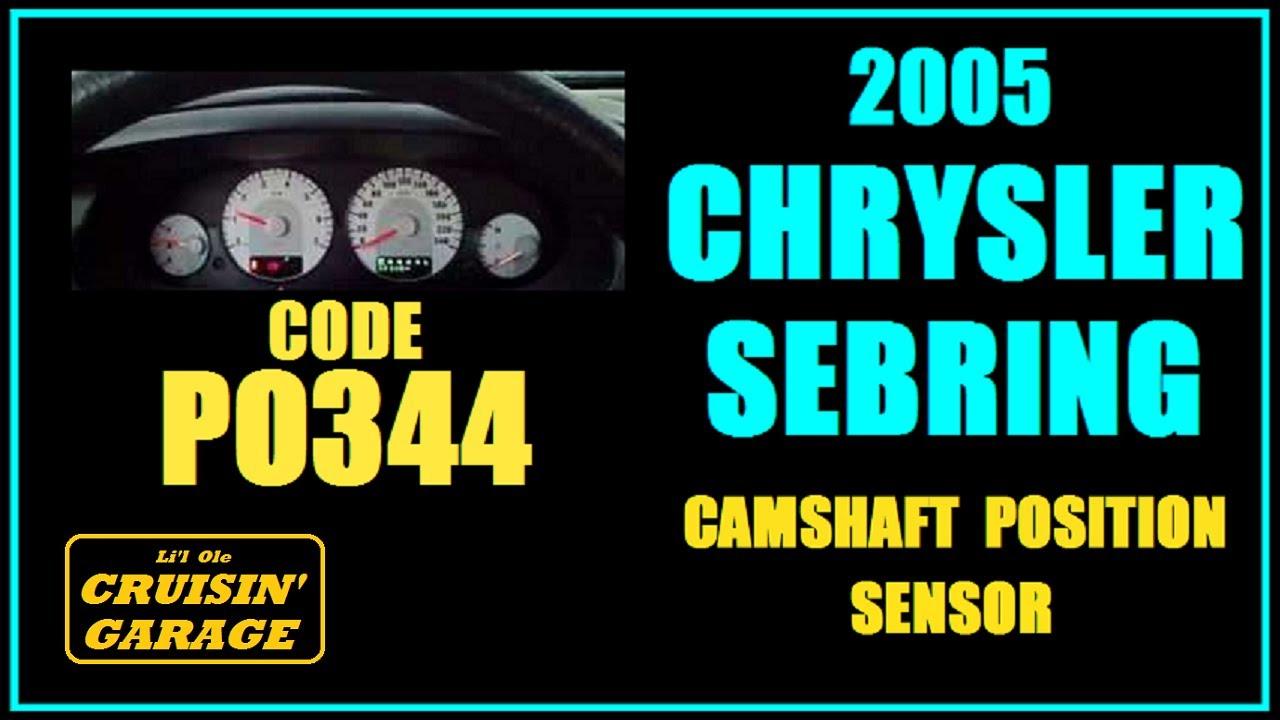 medium resolution of 2005 chrysler sebring code p0344 camshaft position sensor better video quality