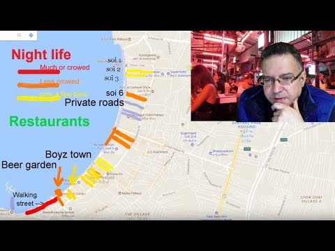 NIGHT LIFE MAP OF PATTAYA - Explained in detail