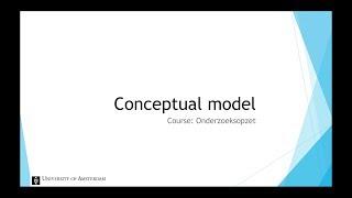 Conceptual Model - Introduction