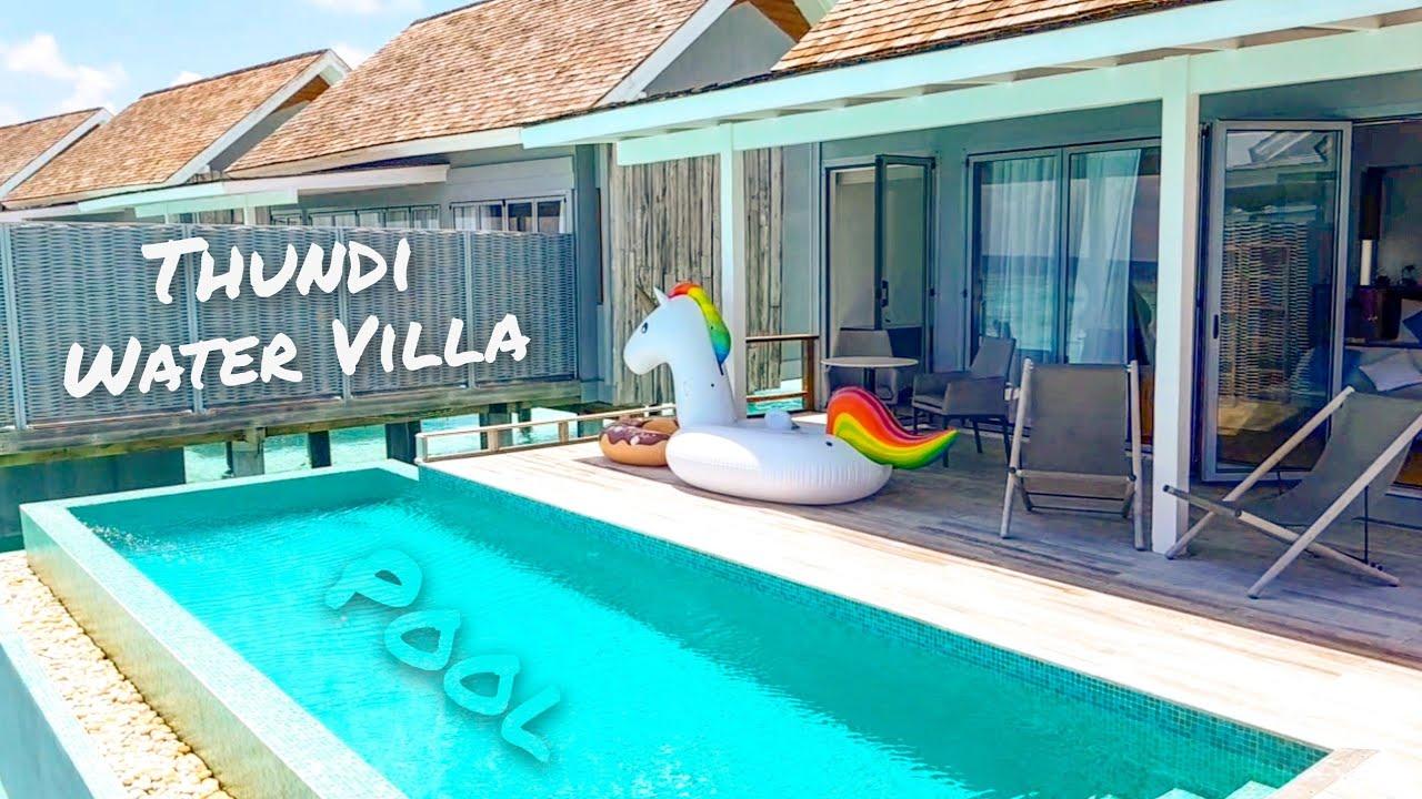 Thundi Water Villa With Pool Kuramathi Maldives Youtube