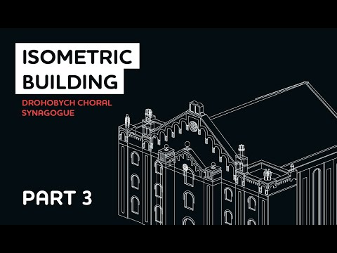 3D Isometric Building Fast Tutorial In Adobe Illustrator. Drohobych Choral Synagogue. Lines. Part 3 thumbnail