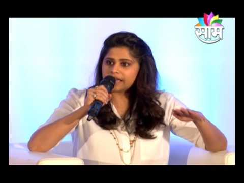 sandip kale taking interview of sai tamhankar & sayaji shinde