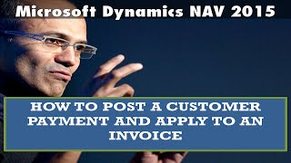 How to post a customer payment and apply to an invoice - Microsoft Dynamics NAV 2015