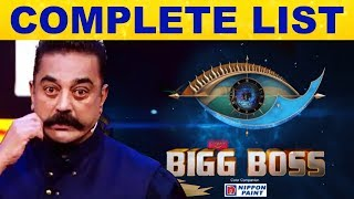 Complete List Of Bigg Boss3 Contestants – Have A Look Of This Video! | Bigg Boss 3