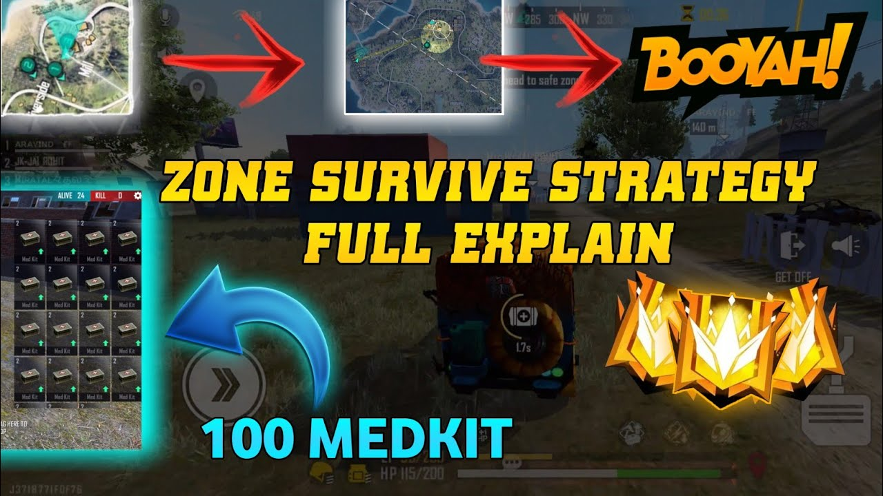 Download ZONE SURVIVE TIPS & TRICKS    ZONE SURVIVE STRATEGY FULL EXPLAIN
