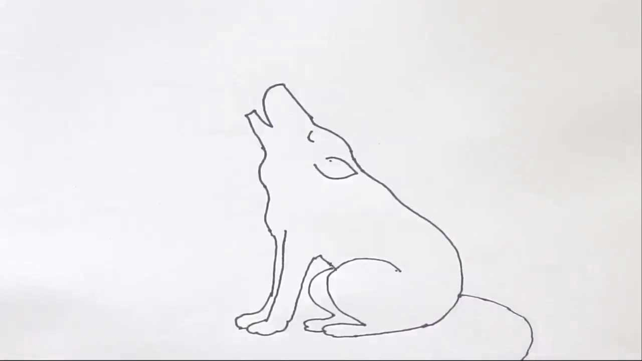 Uncategorized Easy Wolf To Draw how to draw a wolf howling in easy steps for children kids beginners step by youtube