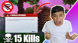 Disconnecting Internet Prank On Little Brother While Playing Fortnite! Rage