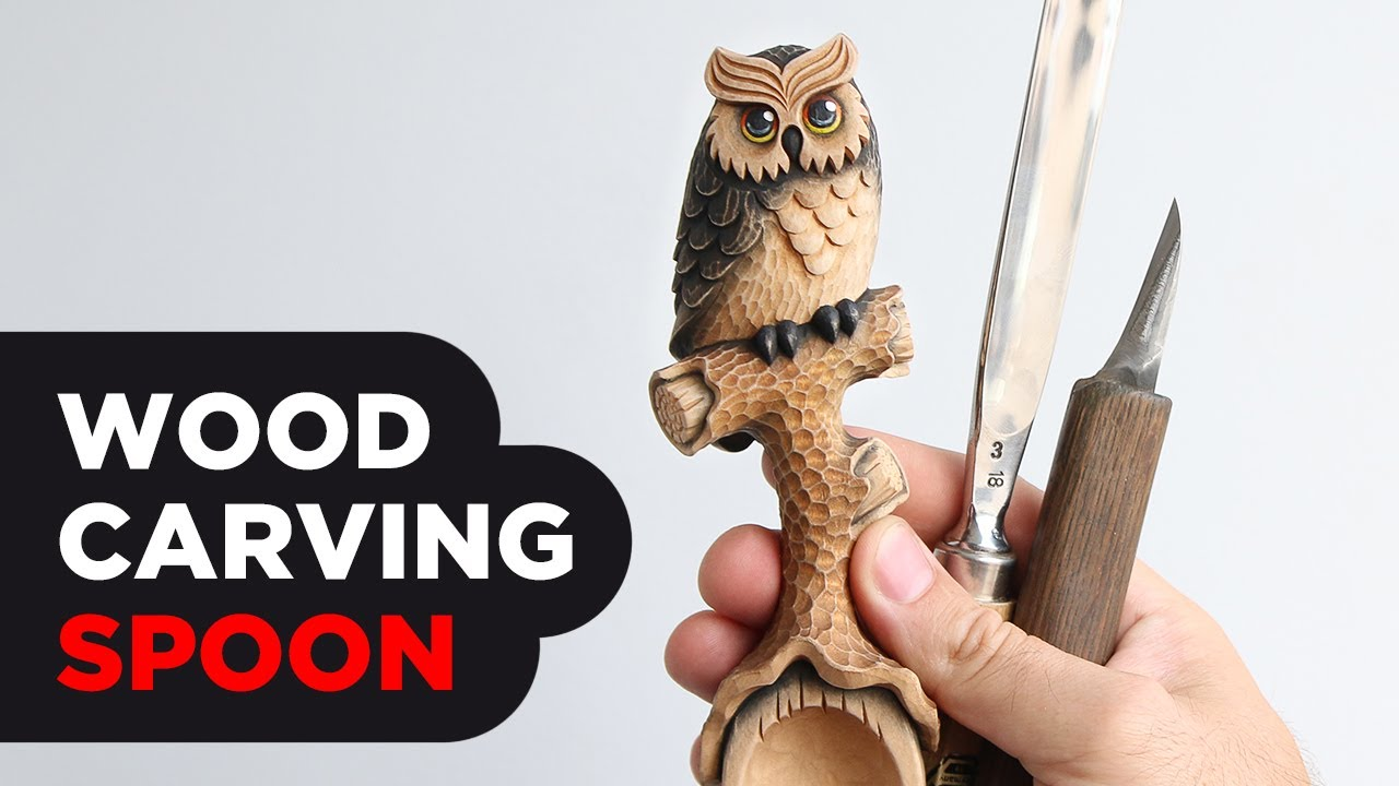 Wooden Spoon carving | Wood Carving | Makinng a Wood Spoon with Owl