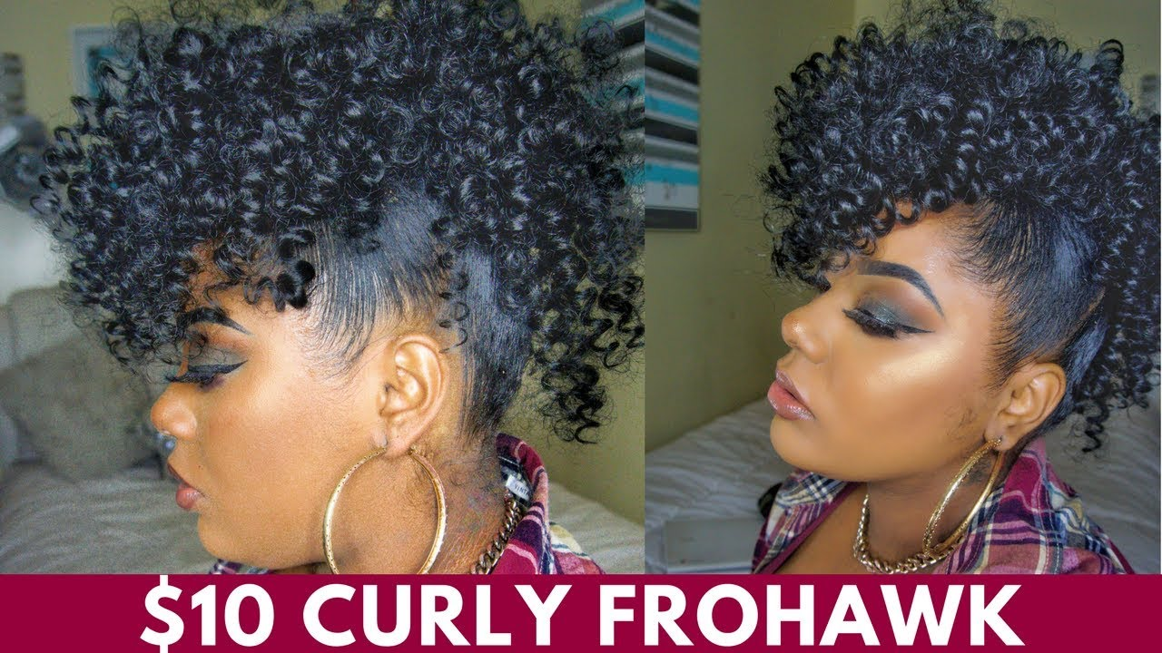 10$ styles | curly mohawk | protective style |