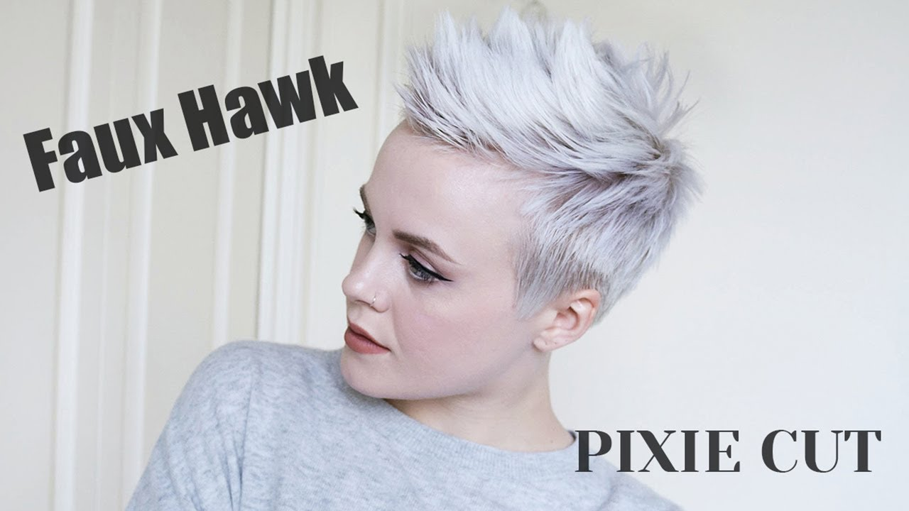 Pixie Cut FAUX HAWK Tutorial / Easy + DRUGSTORE Products