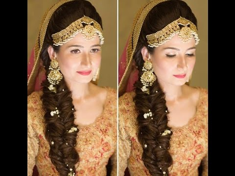 Mehndi Hairstyles For Brides : Bridal make up for mehndi latest pakistani trends youtube