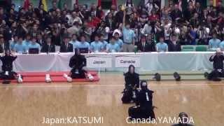 第16回世界剣道 日本対カナダ Japan vs Canada [16th wkc]