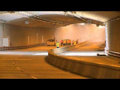 Southbound Battery Tunnel Deluge System Testing