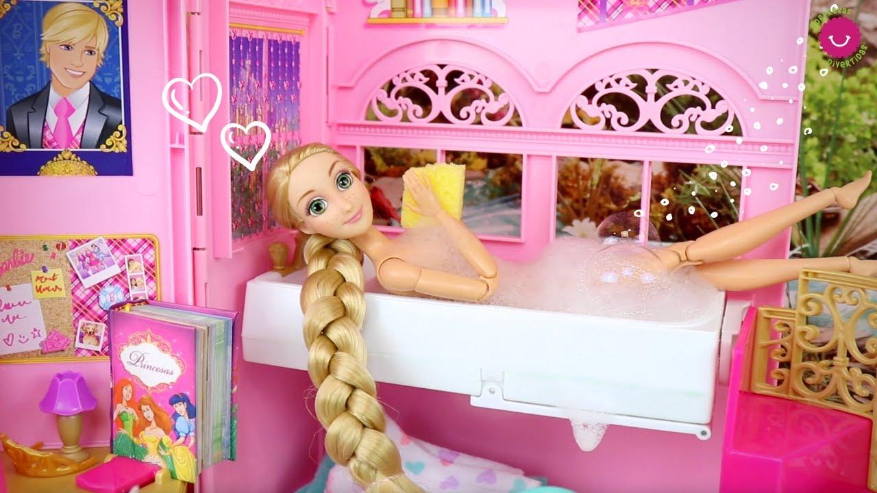Rutina de BAÑO de las Princesas Disney en el canal Sorpresas Divertidas