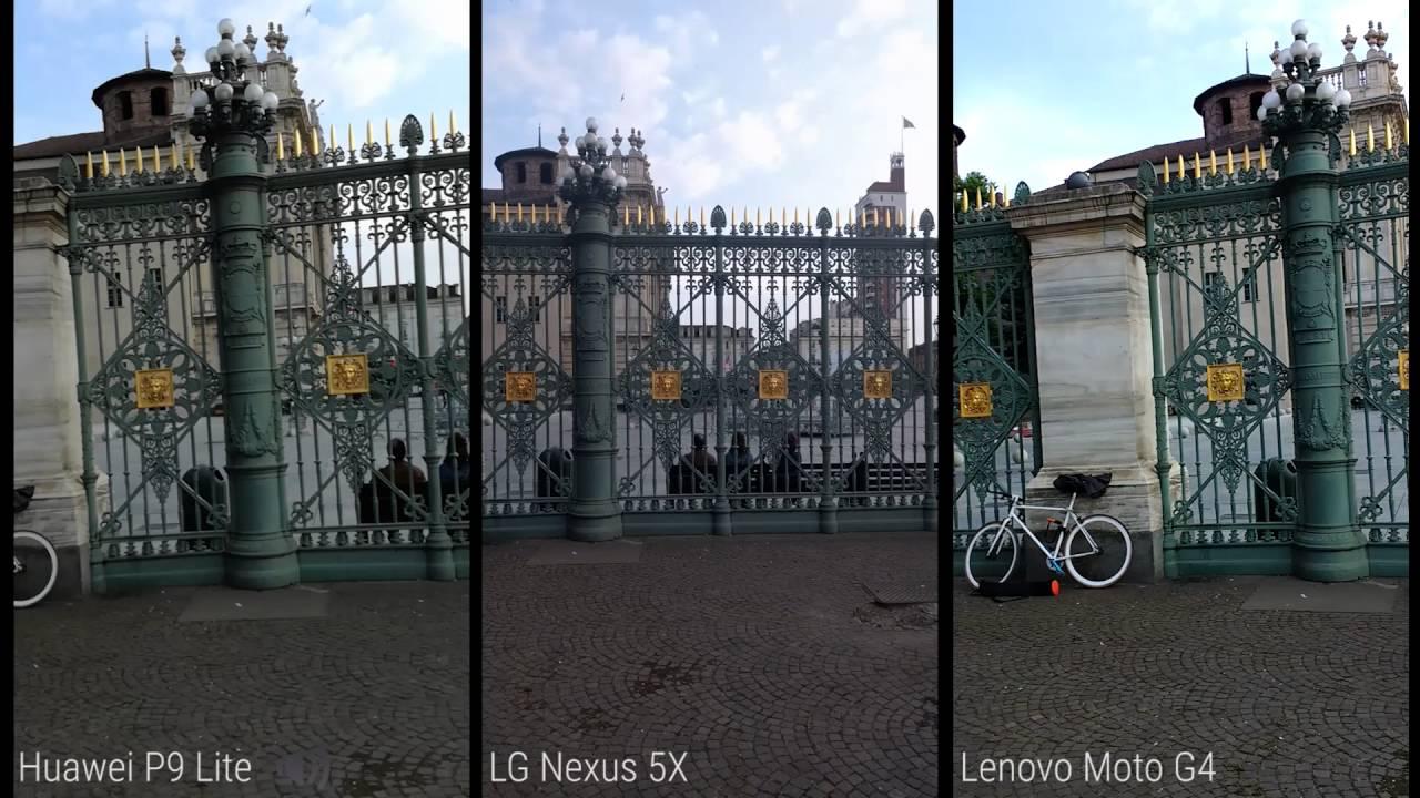 Huawei P9 Lite vs LG Nexus 5X vs Lenovo Moto G4 test video ...