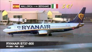TRIP REPORT | Ryanair B737-800 | Palma de Mallorca ✈ Milan Bergamo BGY | Turbulent takeoff!