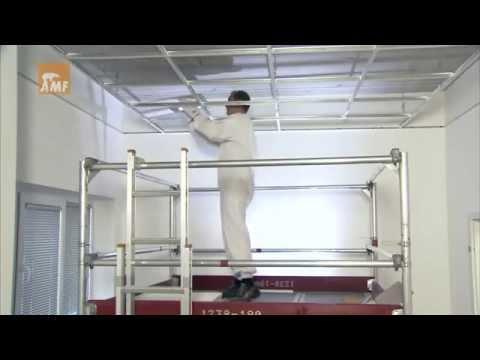 Как монтировать подвесной потолок армстронг видео