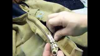 How to repair a zipper on a Carhartt coat