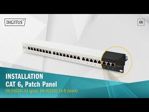 DIGITUS® CAT 6A, Class EA Patch Panel, Shielded (DN-91624S-EA, DN-91624S-EA-B)
