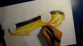 Drawing a Pagani Zonda F Clubsport