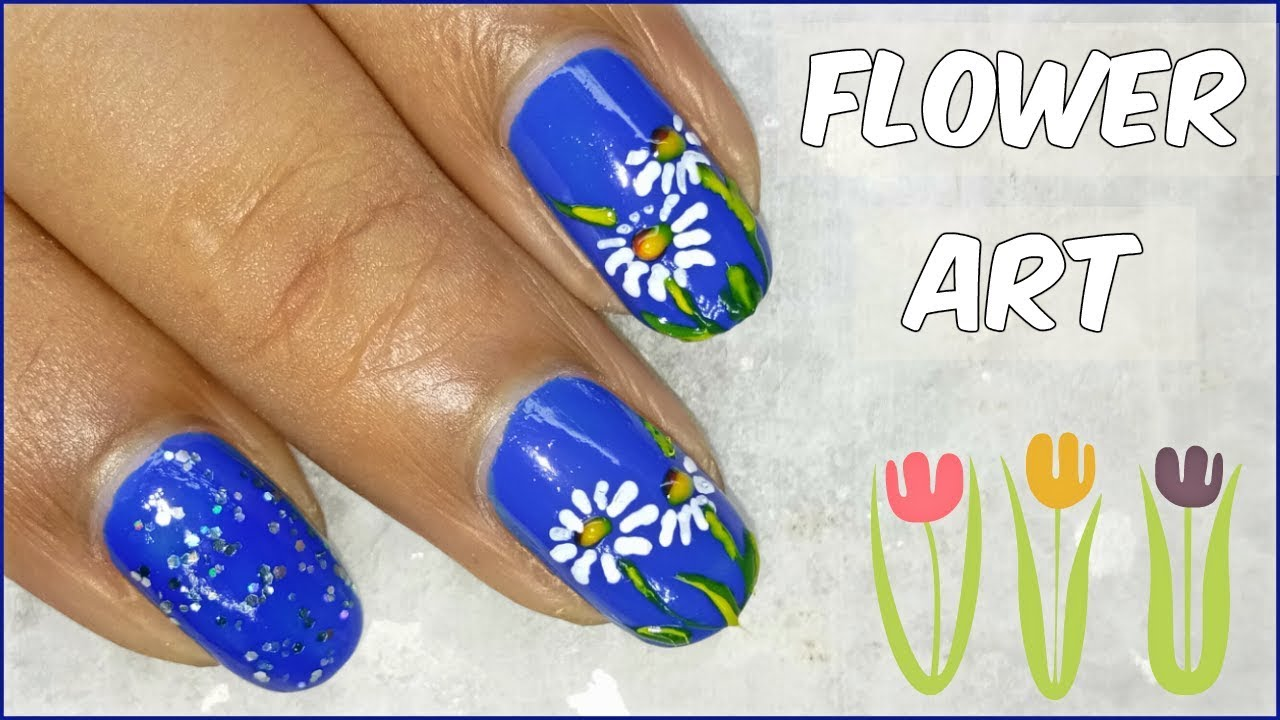Easy Flower Nail Art Designs Tutorial With Toothpick At Home