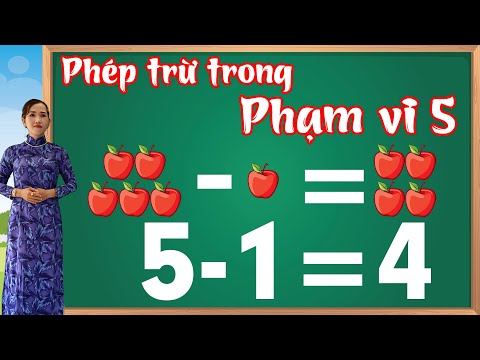 Toán cộng trừ trong phạm vi 5 | Học toán lớp 1 bài 2