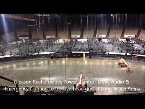 Gleason Reel installation at Long Beach Arena