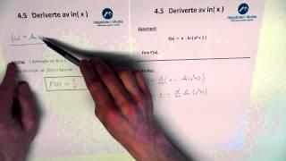 04 k 10 deriverte av ln x