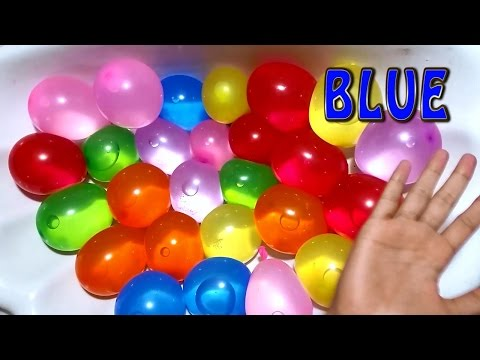 Kids Study water wet Baloon Learn Colours Songs  Children Education