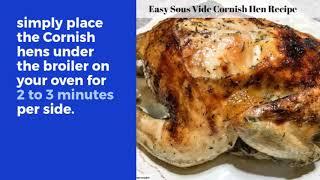 Easy Sous Vide Cornish Hen Recipe Experimental Homesteader
