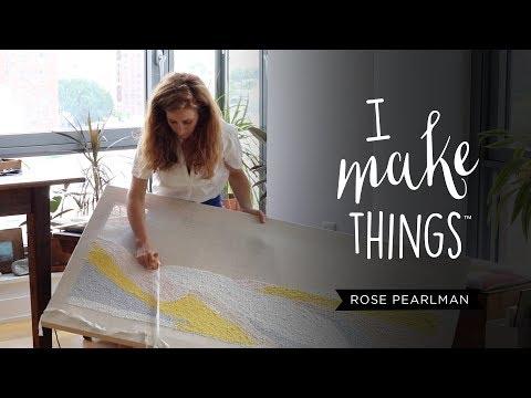 Needle punching textile designs
