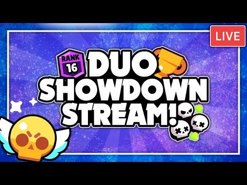 DUO SHOWDOWN LIVE STREAM! + Road To Purple Iron Man! + Road To 11k Trophies! - Brawl Stars