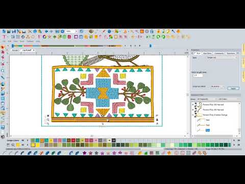 Floriani Video's - Desert Dreams Digitizing Class - Block Four - Rug