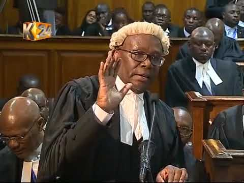AG Githu Muigai on Presidential Petition at the Supreme Court