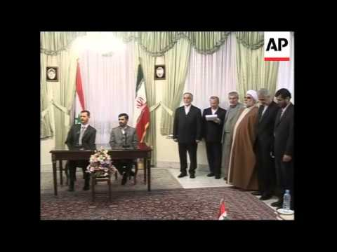 Iranian President and Syrian President give joint press conference