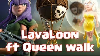 Lavaloon attack with queen walk   TH11 3 star attack in clan war   Clash of Clans