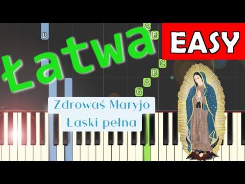 🎹 Zdrowaś Maryjo, łaski pełna (modlitwa) - Piano Tutorial (łatwa wersja) 🎹