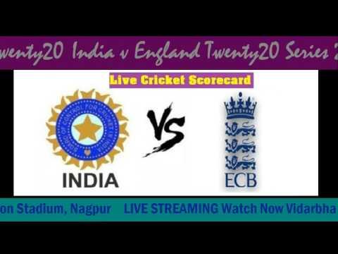 India v England Twenty20 Score LIVE