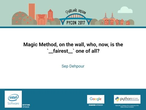 Image from Magic Method, on the wall, who, now, is the `__fairest__` one of all?