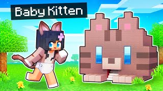 My SECRET Base in a Minecraft BABY KITTEN House!