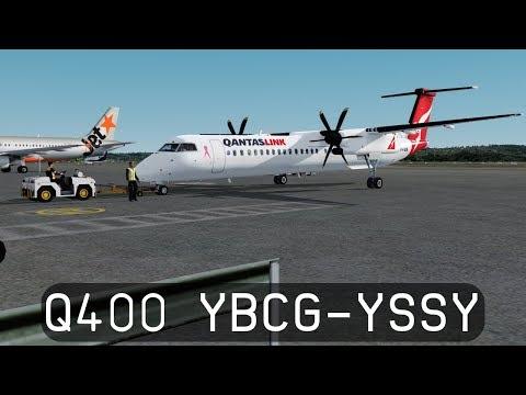 Prepar3d V4.1 - QantasLink Dash 8 Q400 - Gold Coast to Sydney (YBCG-YSSY)