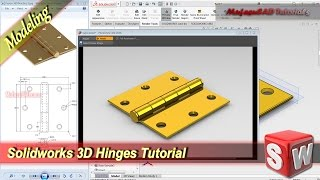 Solidworks 3D Modeling Hinges Tutorial Exercise 5