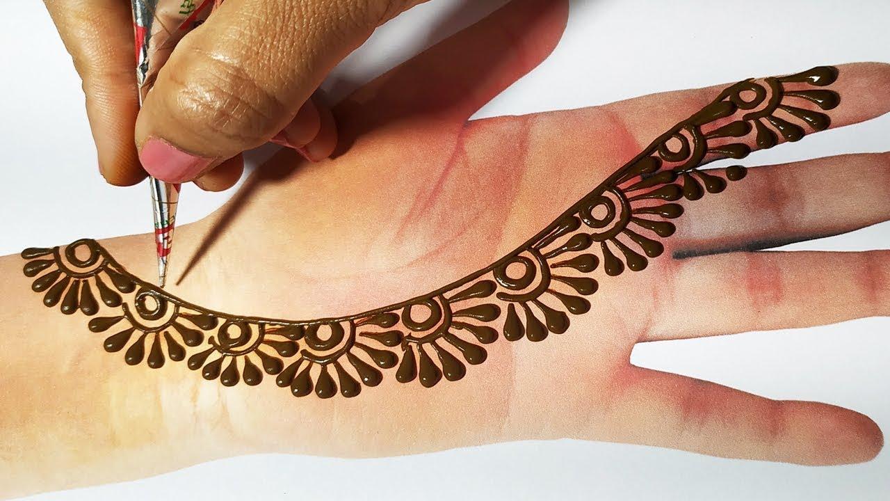 Easy Mehndi Trick Latest Mehndi Design 2019 For Hands आस न म ह द लग ए क स भ श द स ग त म