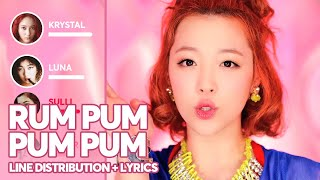 f(x) - Rum Pum Pum Pum (Line Distribution + Color Coded Lyri…