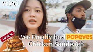 Finally had Popeyes Chicken Sandwich!! Blasian Couple sometimes with Keys