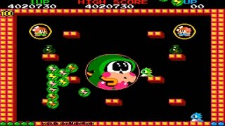 Bubble Bobble Round 99-100 Happy and Real End 1986 Taito Mame Retro Arcade Games