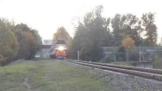 Пассажирский тепловоз ТЭП70К-0232 со скорым поездом №39