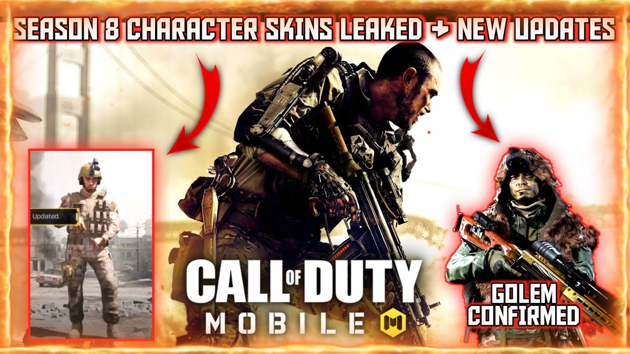 CALL OF DUTY MOBILE | SEASON 8 ALL CHARACTER SKINS LEAKED | ALL UPCOMING CHARACTERS OF SEASON 8 CODM