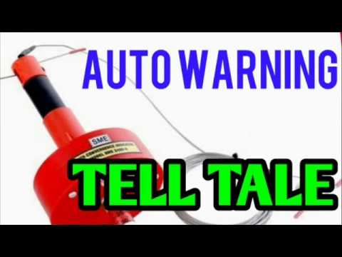 AUTO WARNING// TELL TALE..// USED IN DEPILLARING..