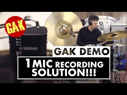 1 MIC DRUM RECORDING + ADD EFFECTS LIVE! | YAMAHA E.A.D
